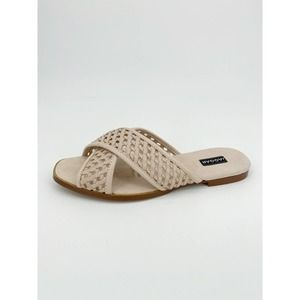 Jaggar Criss Cross Sandal Slide Perforated Leather